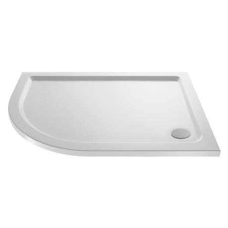 Pearlstone Offset Quadrant Shower Tray - Left Hand