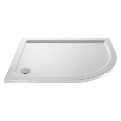 Pearlstone Offset Quadrant Shower Tray - Right Hand
