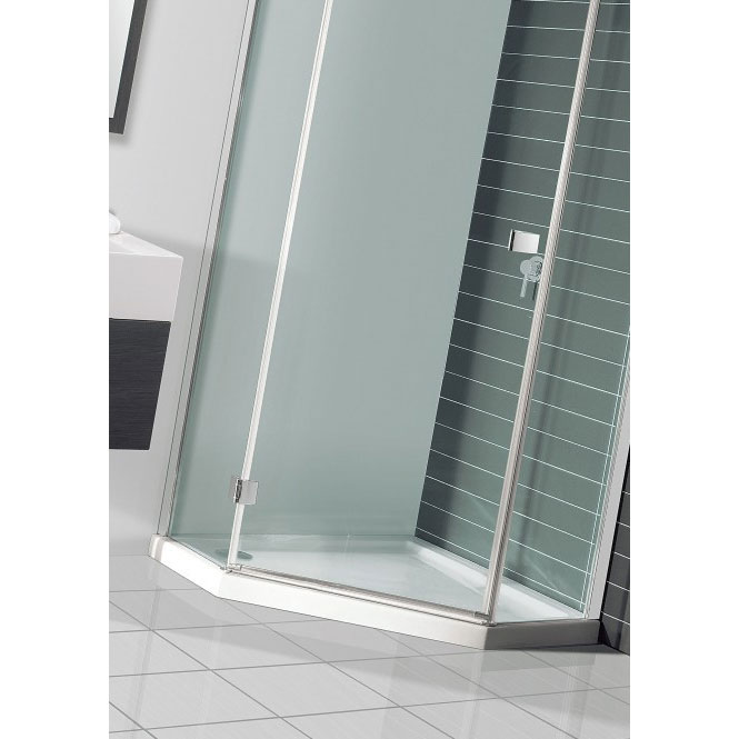 Simpsons - Pentagon Low Profile Acrylic Shower Tray with Waste - 900 x 900 x 35mm Feature Large Image
