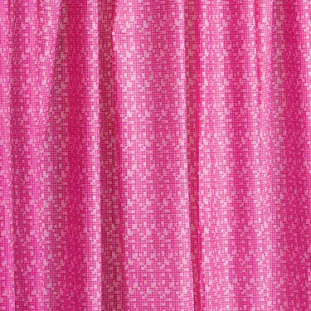 Pink Mosaic PEVA Shower Curtain W1800 x H1800mm - 1605205 Large Image