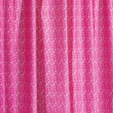 Pink Mosaic PEVA Shower Curtain W1800 x H1800mm - 1605205