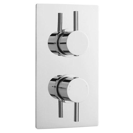 Pioneer - Minimalist Twin Concealed Shower Valve with Chrome ABS Trimset & Diverter