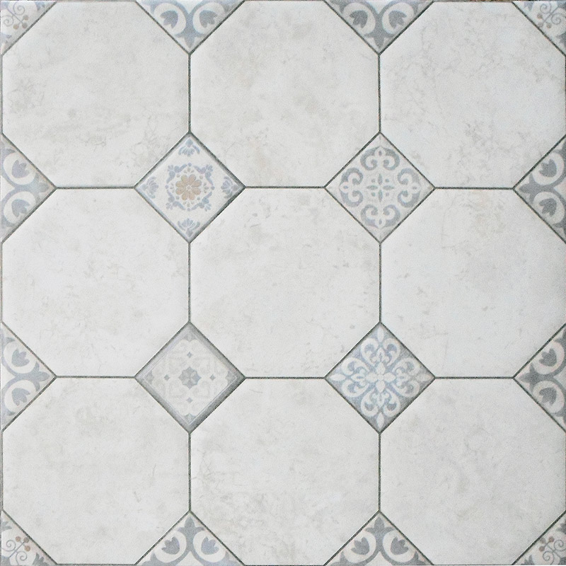 Pisa White Large Rustic Floor Tiles - 600 x 600mm Large Image