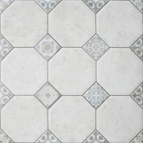 Pisa White Large Rustic Floor Tiles - 600 x 600mm