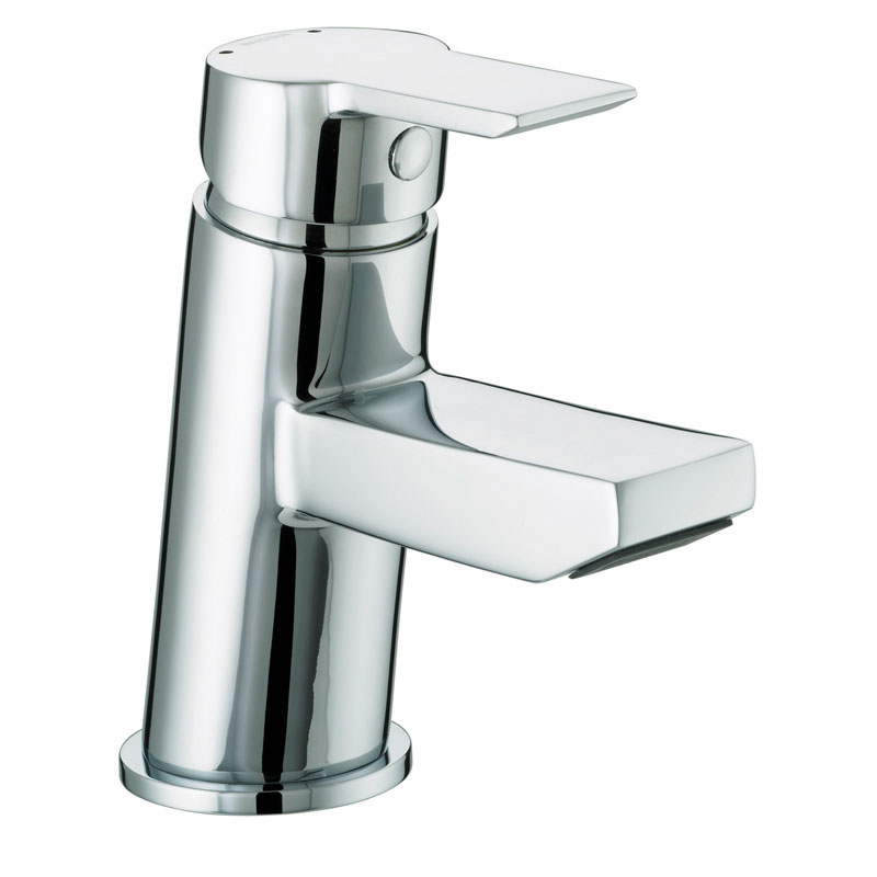 Bristan - Pisa Small Basin Mixer With Clicker Waste - Chrome - PS-SMBAS-C Large Image