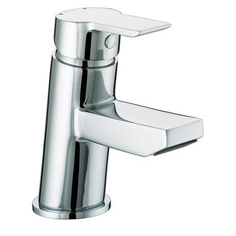 Bristan - Pisa Small Basin Mixer With Clicker Waste - Chrome - PS-SMBAS-C