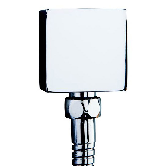 Plaza Square Twin Concealed Thermostatic Shower Valve + Slider Rail Kit profile large image view 2