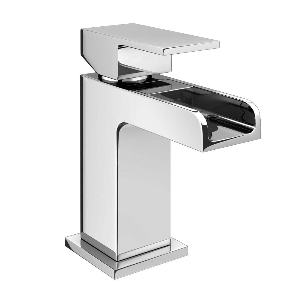 Plaza Waterfall Cloakroom Mini Basin Tap + Waste profile large image view 1