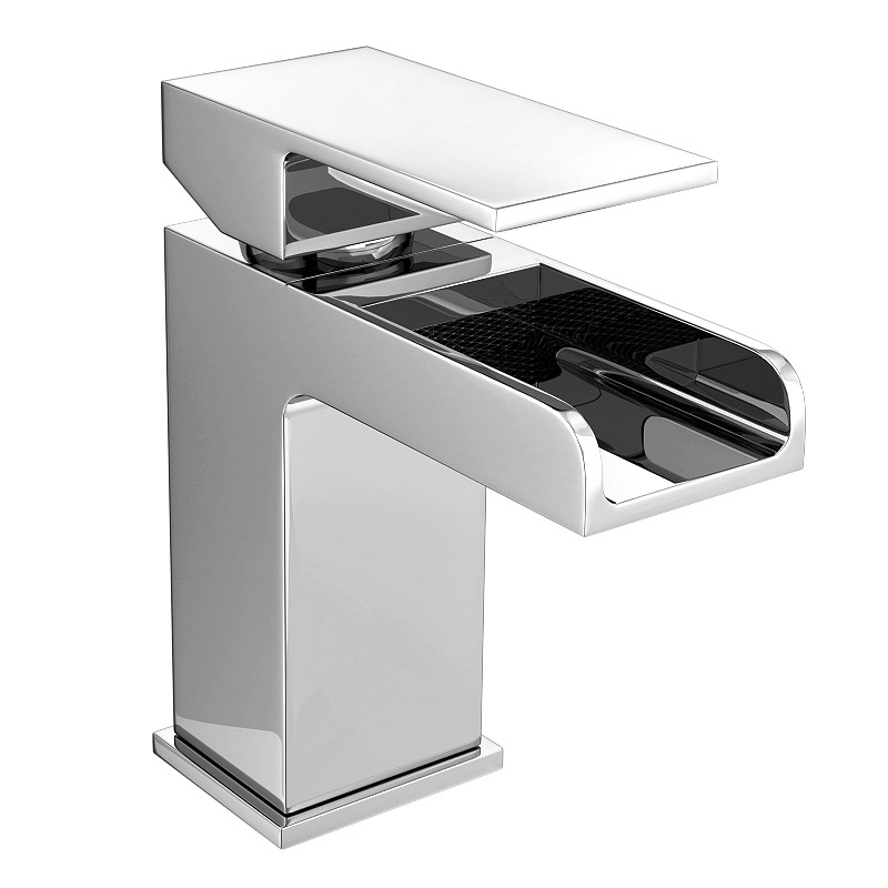 Plaza Waterfall Basin Tap with Waste Large Image