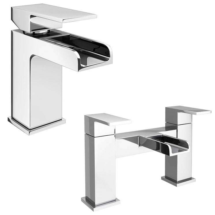Plaza Waterfall Tap Package (Bath + Basin Tap) Large Image