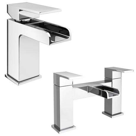 Plaza Waterfall Tap Package (Bath + Basin Tap)