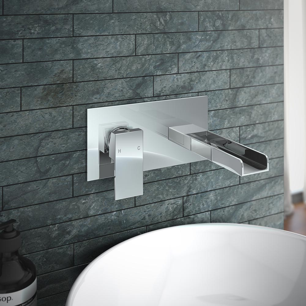 Plaza Waterfall Wall Mounted Basin Tap