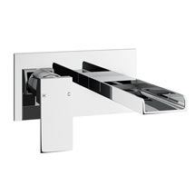 Plaza Waterfall Wall Mounted Bath Filler - Chrome Medium Image