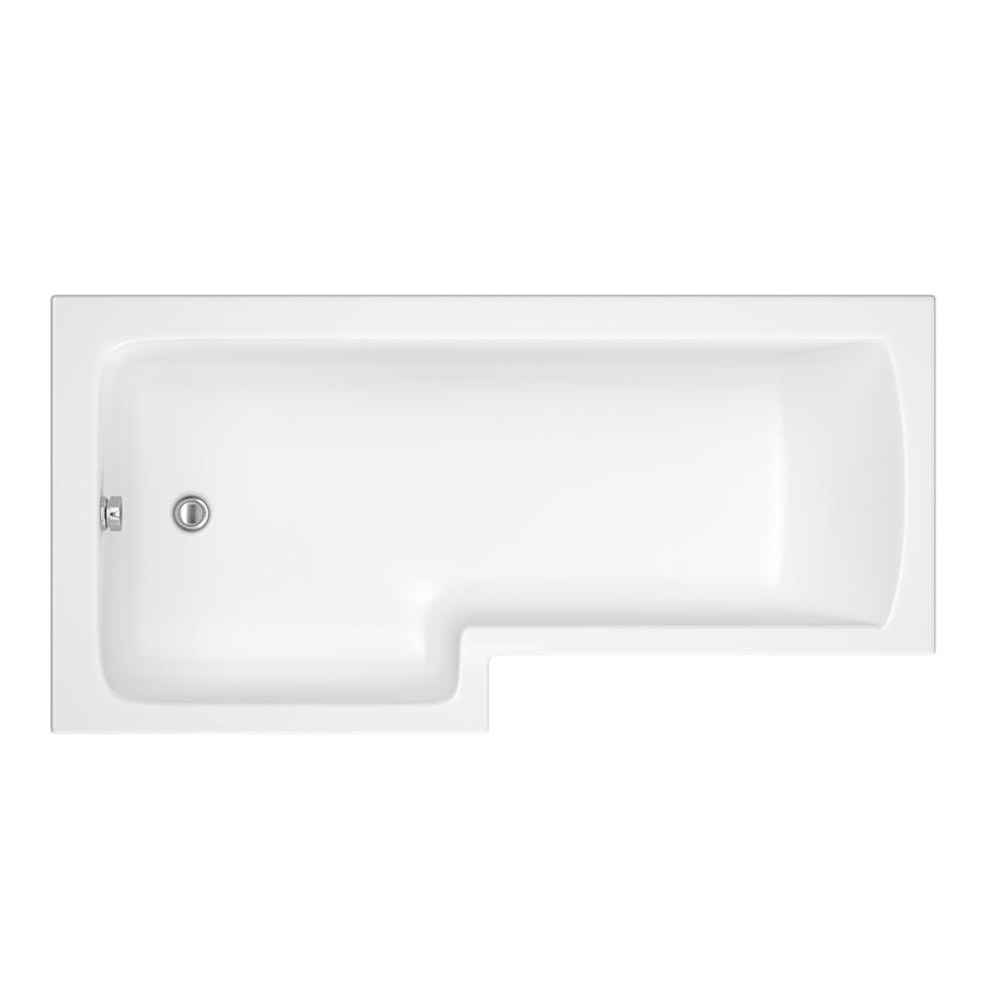 Premier Shower Bath - 1700mm L Shaped with Screen & Panel - LH profile large image view 2
