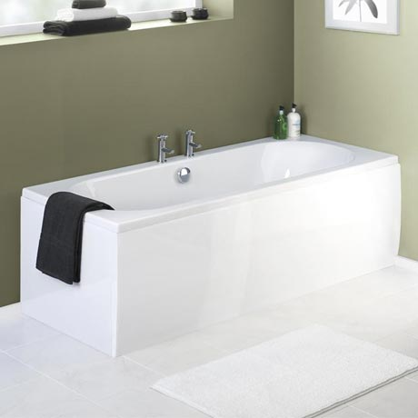 Premier Acrylic Front Bath Panel - White - 4 Size Options
