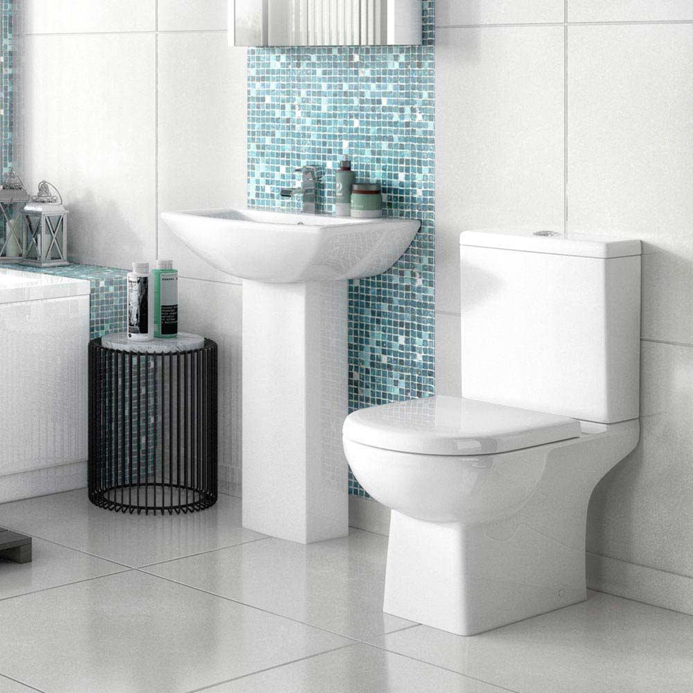 Premier Asselby 1 Tap Hole Ceramic Basin + Pedestal Set  Feature Large Image
