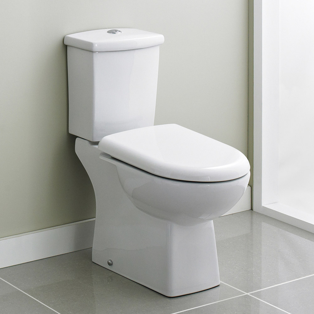 Premier - Asselby Ceramic Close Coupled Standard Toilet with Soft Close Seat profile large image view 2