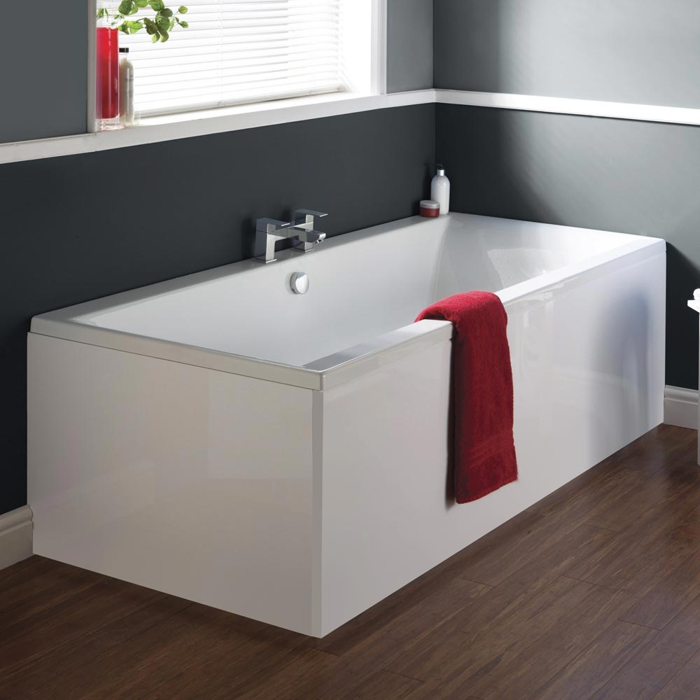 Premier Asselby Square Double Ended Bath with Front & End Panels Large Image