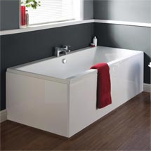 Premier Asselby Square Double Ended Bath with Front & End Panels Medium Image