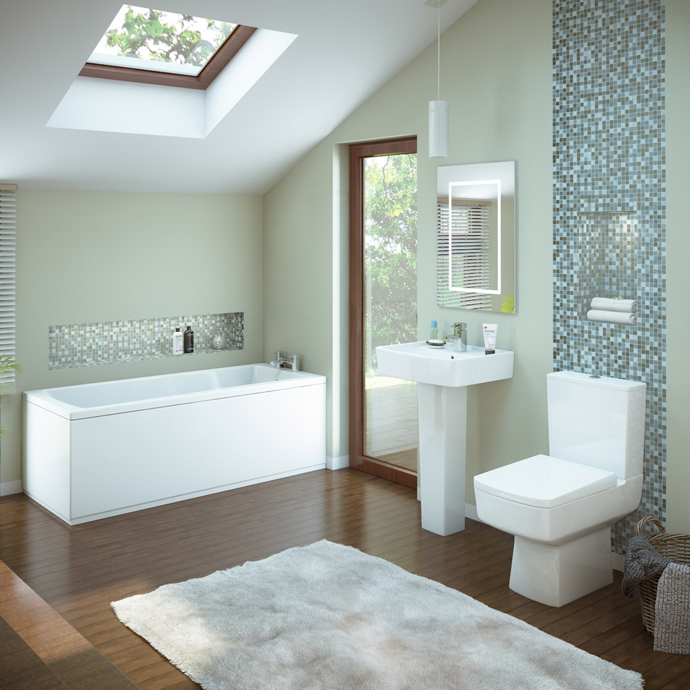 Premier bliss 5 piece bathroom suite at victorian for Small 4 piece bathroom designs
