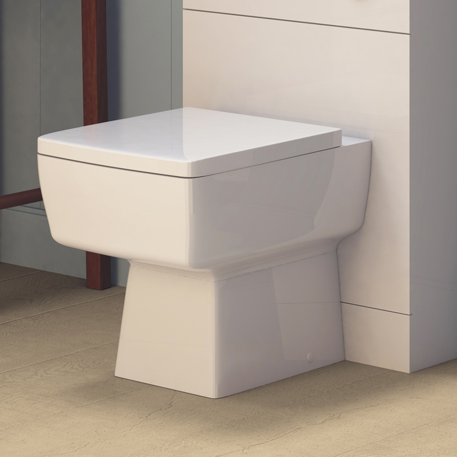Premier Bliss Square Back to Wall Pan Inc. Top Fix Seat + Concealed Cistern Profile Large Image