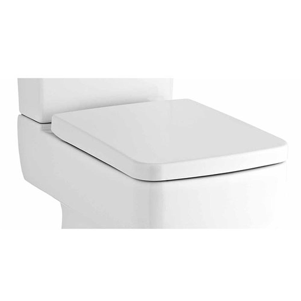 best slow close toilet seat. Bliss Squared Soft Close Top Fixing Toilet Seat  NCH198 at Victorian Plumbing UK