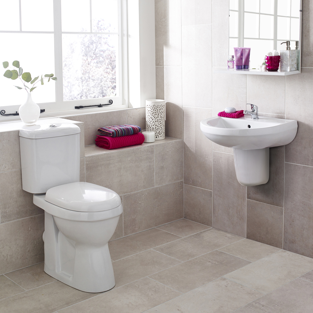 Premier Caledon 4-Piece Modern Cloakroom Suite profile large image view 1