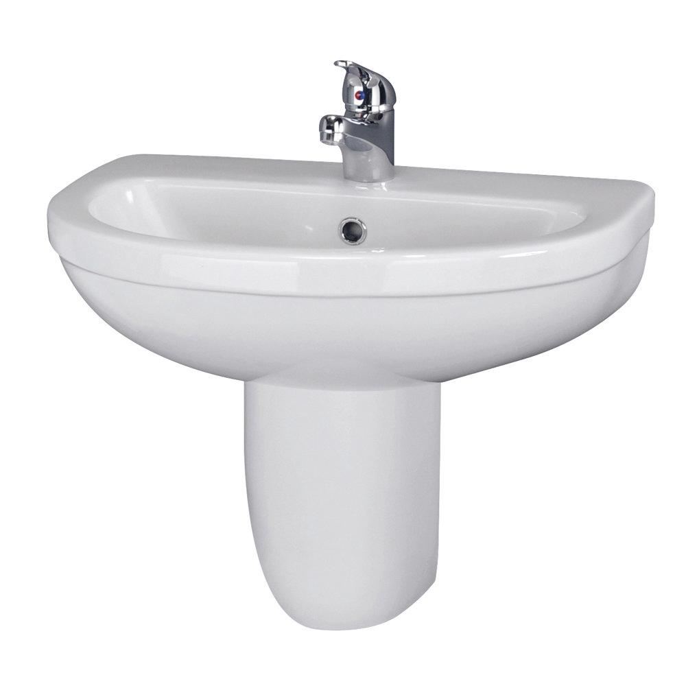 Premier Caledon 555mm Basin with Semi Pedestal Large Image