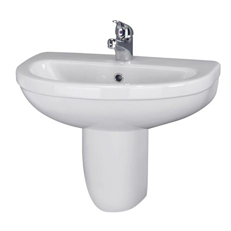 Premier Caledon 555mm Basin with Semi Pedestal
