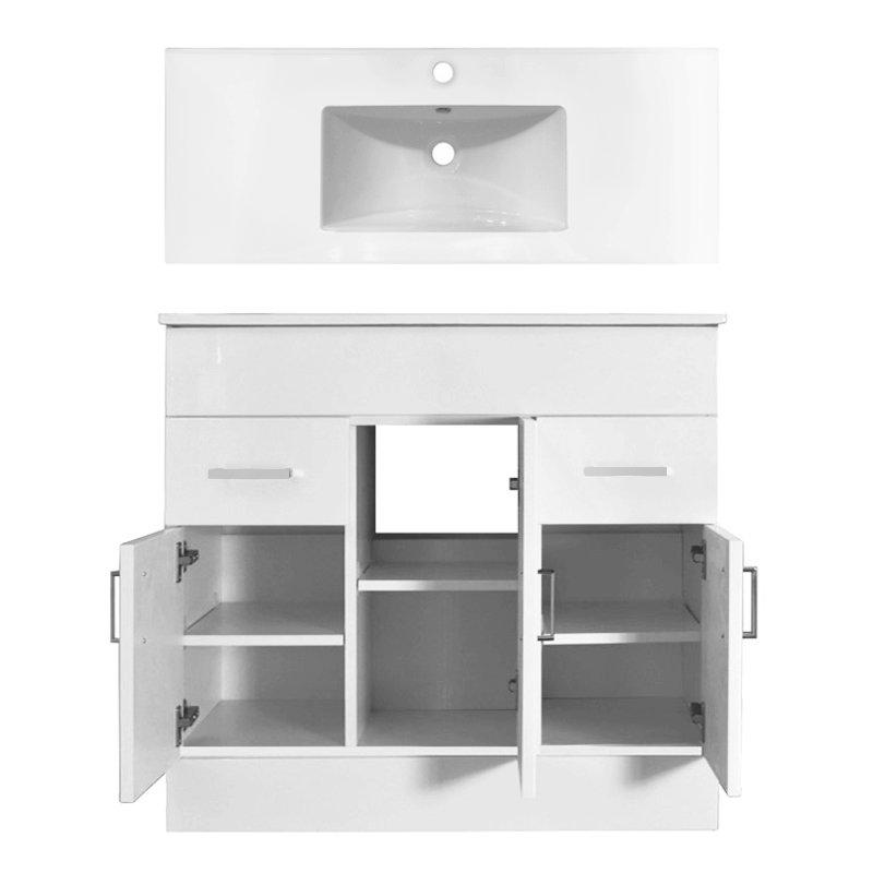 Premier Cardinal Minimalist Gloss White Vanity Unit W1000 x D400mm - VTMW1000 Profile Large Image