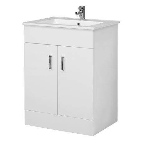 Premier Cardinal Minimalist Gloss White Vanity Unit W600 x D400mm - VTMW600