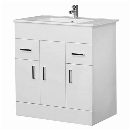 Premier Cardinal Minimalist Gloss White Vanity Unit W800 x D400mm - VTMW800