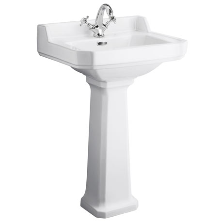 Premier Carlton 1 Tap Hole Traditional Basin + Pedestal (Various Size Options)