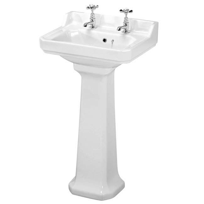 Premier - Carlton 4 Piece Ceramic 2TH Bathroom Suite - Small Feature Large Image