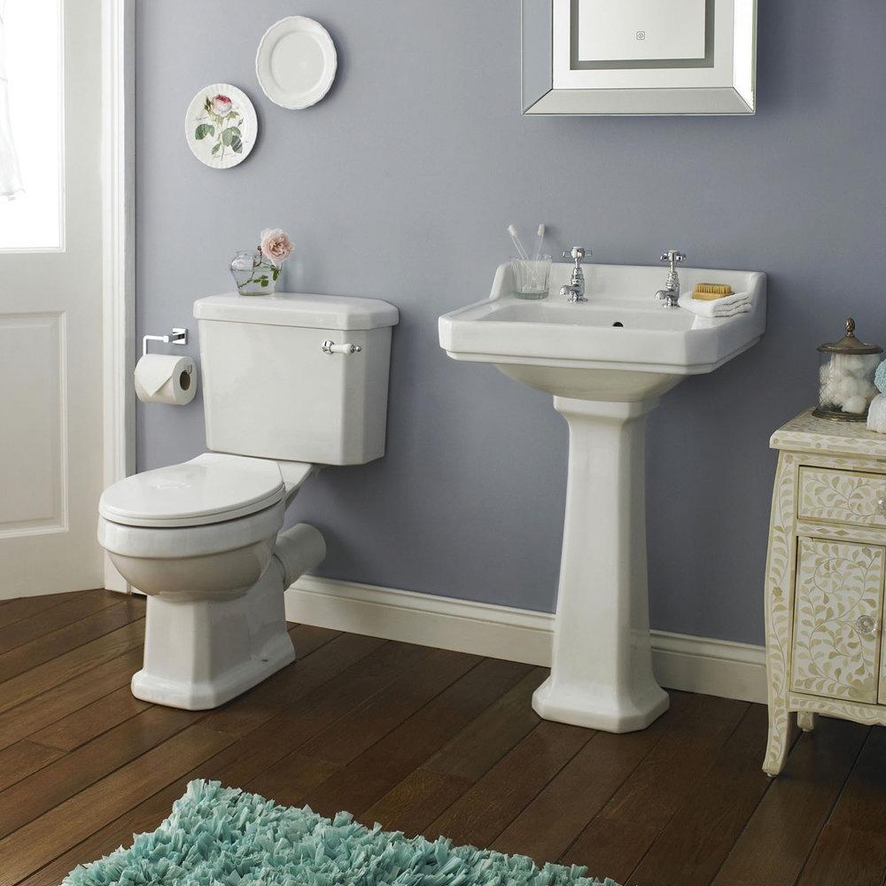 Premier - Carlton 4 Piece Ceramic 2TH Bathroom Suite