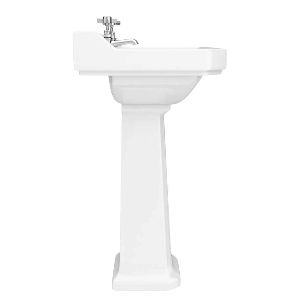 Premier Carlton Traditional Basin with Pedestal (2 Tap Hole - Various Sizes) profile large image view 4