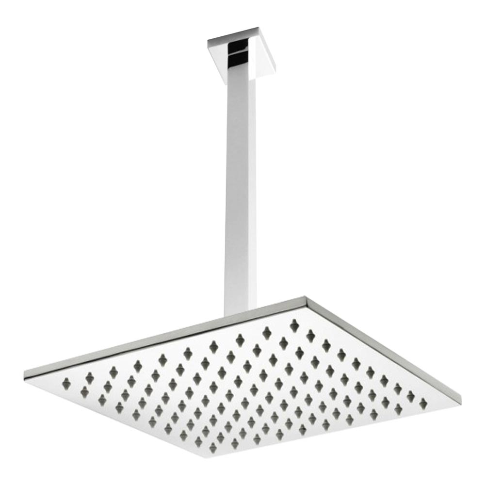 Premier Ceiling Mounted Square Shower Head + Arm (300x300mm) profile large image view 1