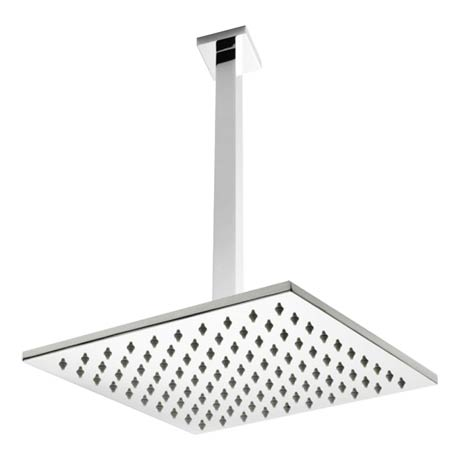 Premier Ceiling Mounted Square Shower Head + Arm (300x300mm)