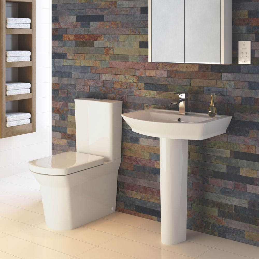 Premier Clara Basin & Full Pedestal - 1 Tap Hole  Feature Large Image