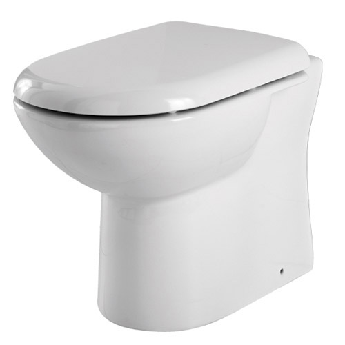 Premier - Cubix Gloss White Vanity Unit with Concealed Cistern, D-Shaped BTW Pan & Soft Close Seat profile large image view 6