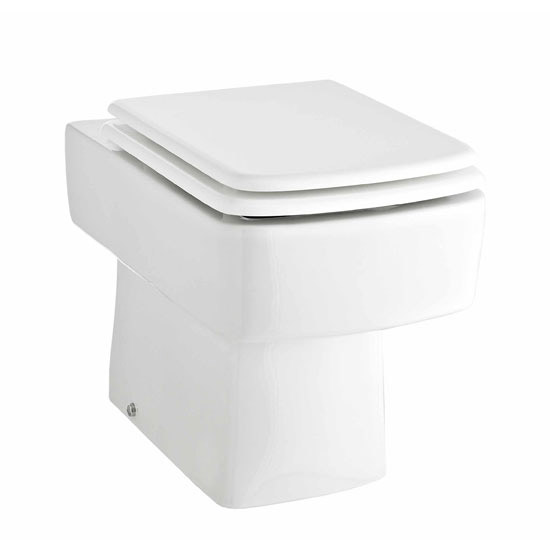 Premier - Cubix Gloss White Vanity Unit with Concealed Cistern, Square BTW Pan & Soft Close Seat In Bathroom Large Image