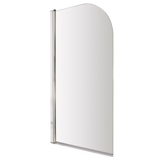 Premier Curved Top Straight Hinged Barmby Shower Bath  Profile Large Image