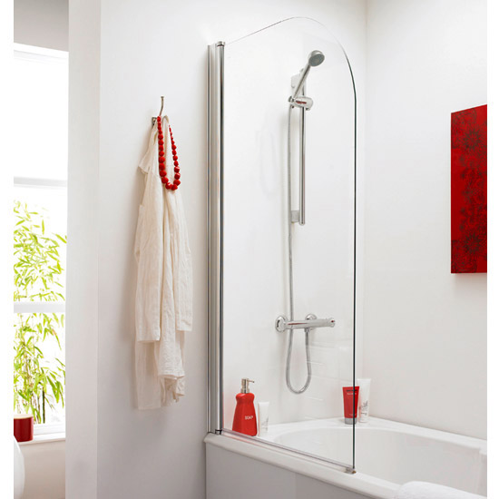 Premier Curved Top Straight Hinged Barmby Shower Bath  Feature Large Image