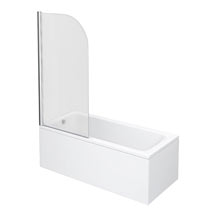 Premier Curved Top Straight Hinged Linton Shower Bath Medium Image