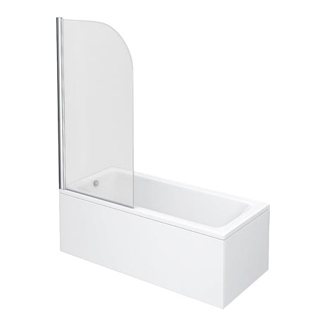 Premier Curved Top Straight Hinged Linton Shower Bath