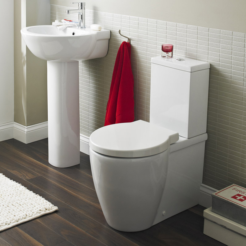 Premier - Darwin Flush To Wall Pan & Cistern with Soft Close Seat profile large image view 2