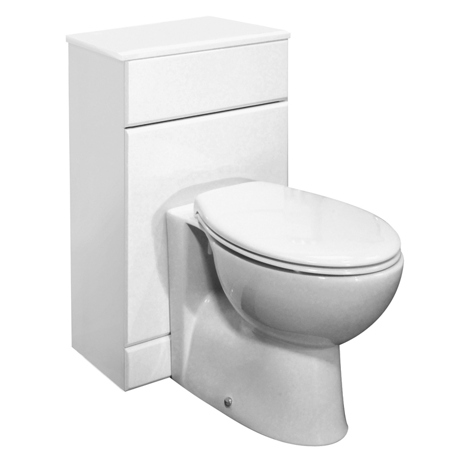 Premier Delaware High Gloss White BTW WC Unit (Depth 300mm) - 2 Size Options Large Image