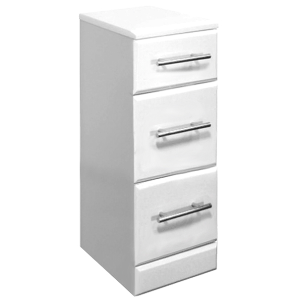 Premier Delaware High Gloss White Deep Drawer Unit W350 x D300mm - VTY025 profile large image view 1