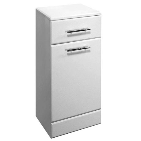 Premier Delaware High Gloss White Deep Laundry Basket W350 x D300mm - VTY026