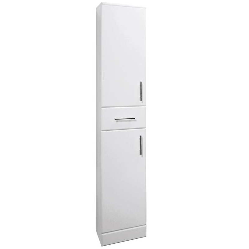 Premier Delaware High Gloss White Deep Tallboy W350 x D330mm - VTY003 profile large image view 1